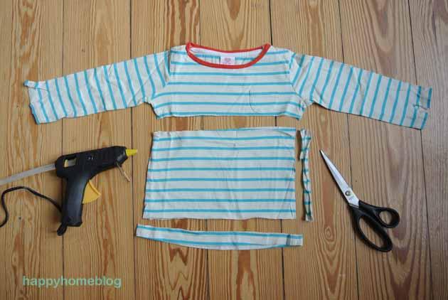 upcycling troddel aus alten t shirts happyhomeblog. Black Bedroom Furniture Sets. Home Design Ideas
