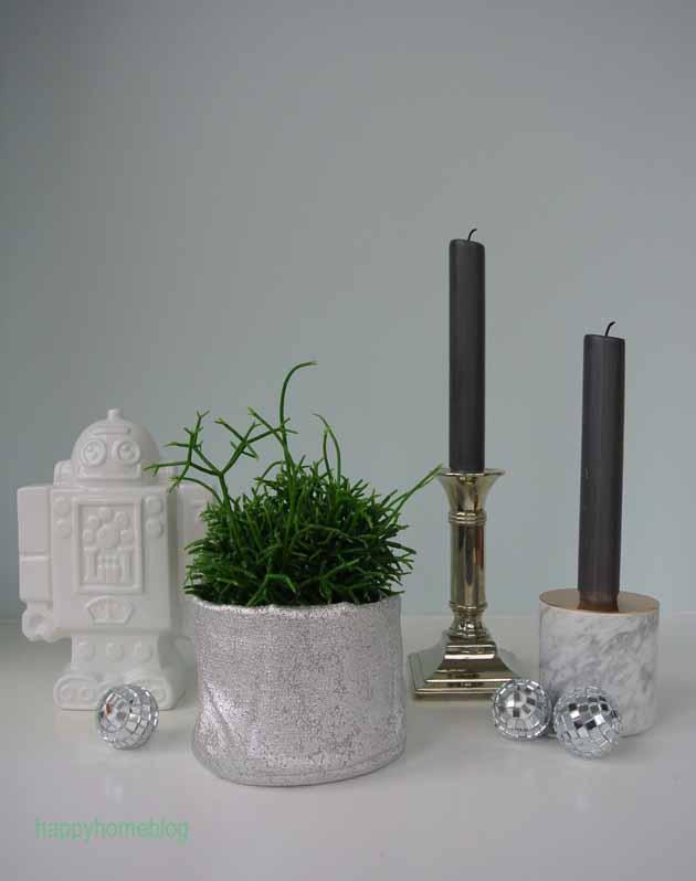 Bleistiftpflanze Silber H&M Utensilo Roboter von Butlers Kerzenständer von menu
