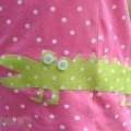 Grünes Krokodil auf Punkte- Shirt by happyhomeblog.de H&M T-Shirt wurde verschönert für die Aktion der Initiative Handarbeit und der Täfeln Deutschland
