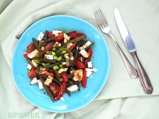 Bohnen-Tomaten Salat mit Fetakäse ein schnelles Mittagessen für die Mama by happyhomeblog.de