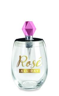 Rose Wine Glass Stopper Set