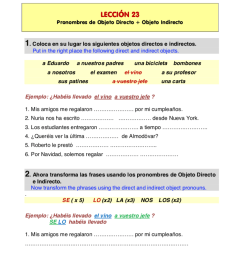 30 Direct Object Pronouns Spanish Worksheet With Answers - Worksheet  Resource Plans [ 1148 x 816 Pixel ]
