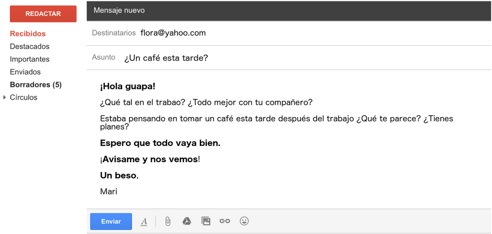 medium resolution of letter email in spanish informal example