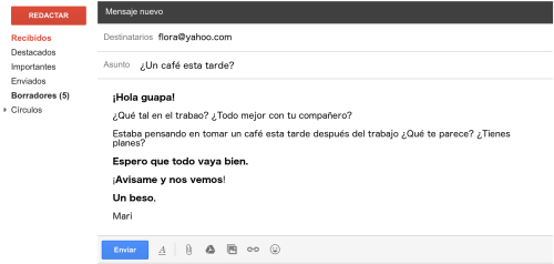 small resolution of letter email in spanish informal example