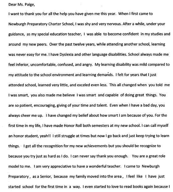 my favorite teacher essays