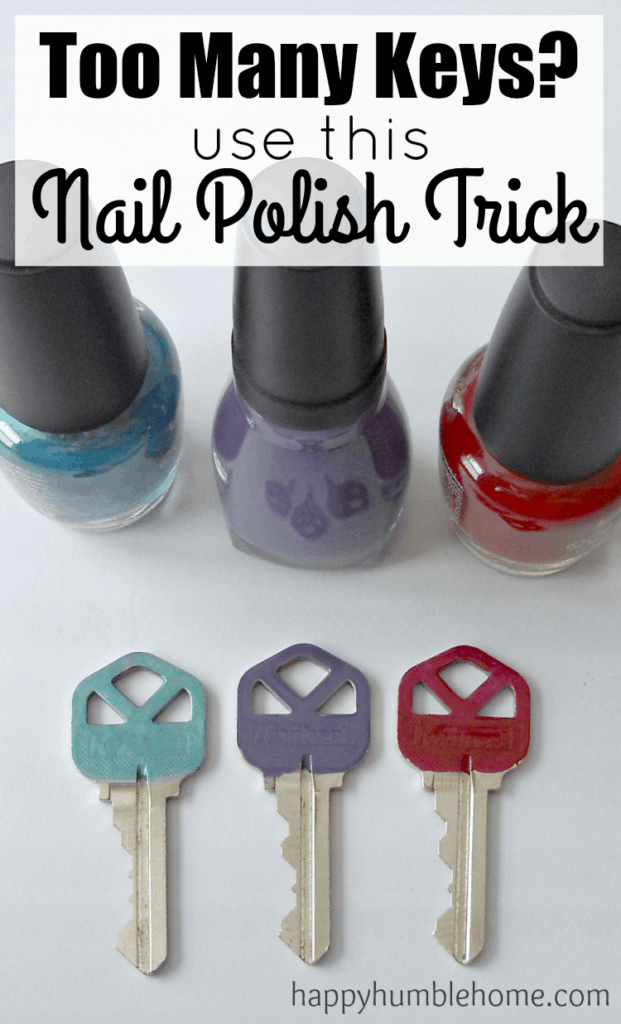 Keep track of your keys with this nail polsih trick! Wow! How smart and easy to do! This made my life so much easier!!