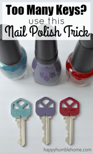 Keep Track of your Keys with this Nail Polish Trick