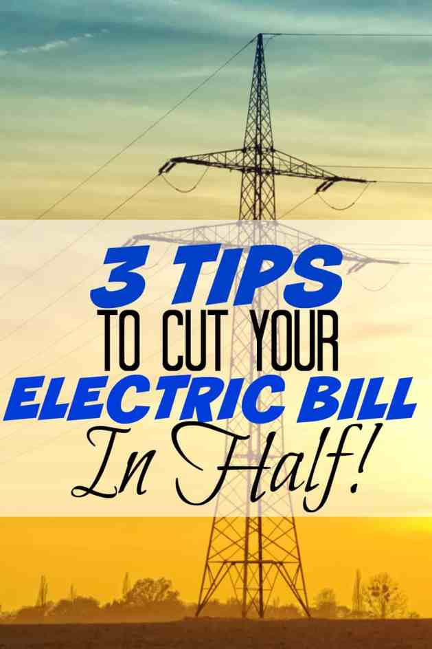 3 tips to cut your electric bill in half. I'm so glad I found this! My electric bill was ridiculous! I was able to save so much money using these tips! Must read!