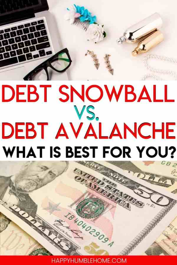 Debt Snowball vs. Debt Avalanche - Are you wondering how to pay off debt with these strategies? Learn which one is right for you if you're drowning in credit card, student loan, car, or consumer debt. Free printable debt tracker included!