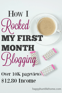How I Rocked My First Month Blogging