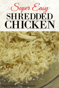Super Easy Shredded Chicken