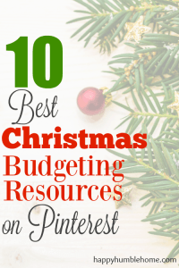 10 Best Christmas Budgeting Resources on Pinterest