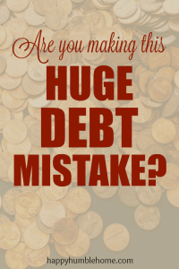 Are you making this Debt Mistake?