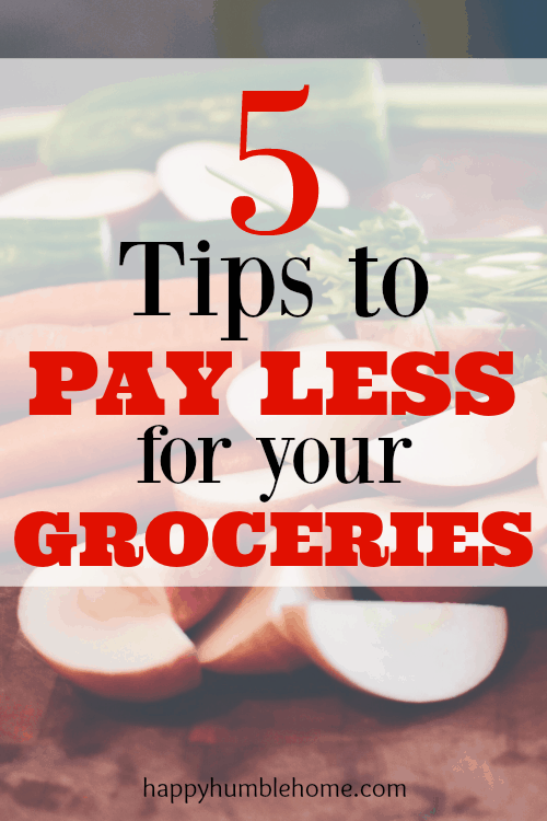 5 Tips to Spend Less on your Groceries! Follow these tips to make sure that you're not spending more than you need to be by following these 5 Tips! #5 was surprising! I saved so much using these tips!