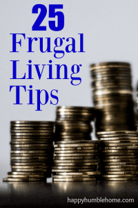25 Frugal Living Tips