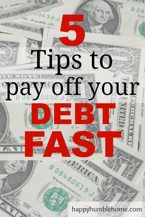 5 Tips to Pay Off Debt Fast - These tips worked for me! I paid off $30,000 in 1.5 years! These tips are sure to help you too!