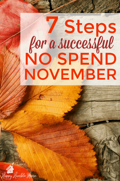 7 Steps for a Successful No Spend November -- Wow! I've been wanting to do this but didn't know how. I tried it and saved $315! I could not have done it without this post!! I would never have thought of Step #4.