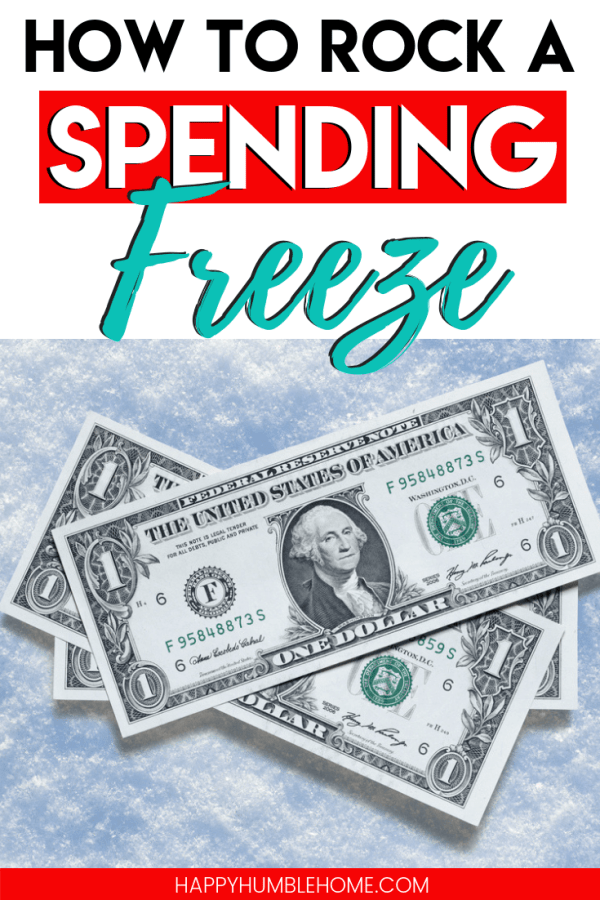 How to do a Spending Freeze - These tips for a successful No-Spend Challenge are sure to help you save money! This post will help you with the rules. You can do it for one-week or up to 30 days. It's not as hard as you think! Click to learn more.