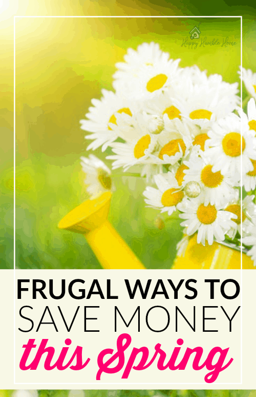 Frugal Ways to Save Money this Spring - WOW! So many money saving ideas that I had not even thought of! I've already saved $312 by doing the last one!!