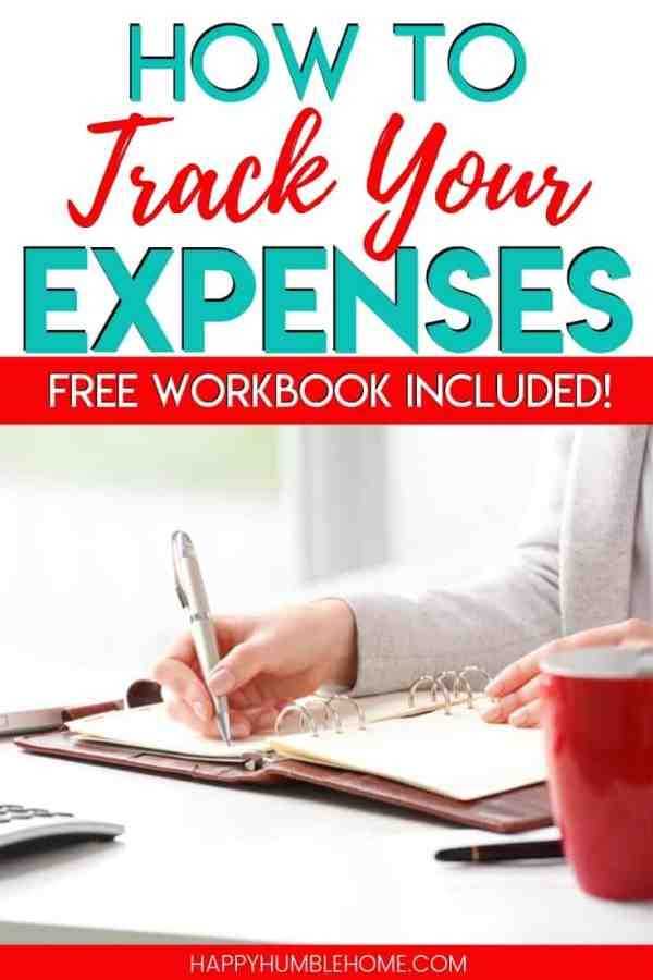 How to Track Your Expenses - Learn simple strategies for tracking all of your expenses so you can spend less and save more money. This personal finance strategy can be done in a bullet journal or Excel or with the FREE printable workbook in this post!