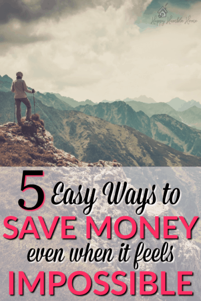5 Easy Ways to Save Money even when it feels Impossible - Starting to save money can be super hard, but these 5 simple tips will make it much easier for you!
