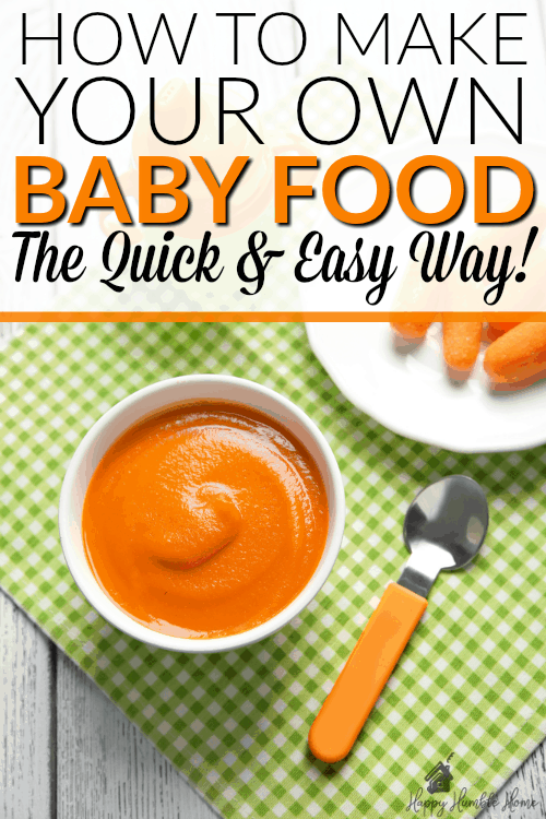 How to make your own Baby Food the Quick and Easy Way - If you're thinking about making your own baby food but you don't want to spend a lot of time making it, this post will show you how fast and easy it can be!