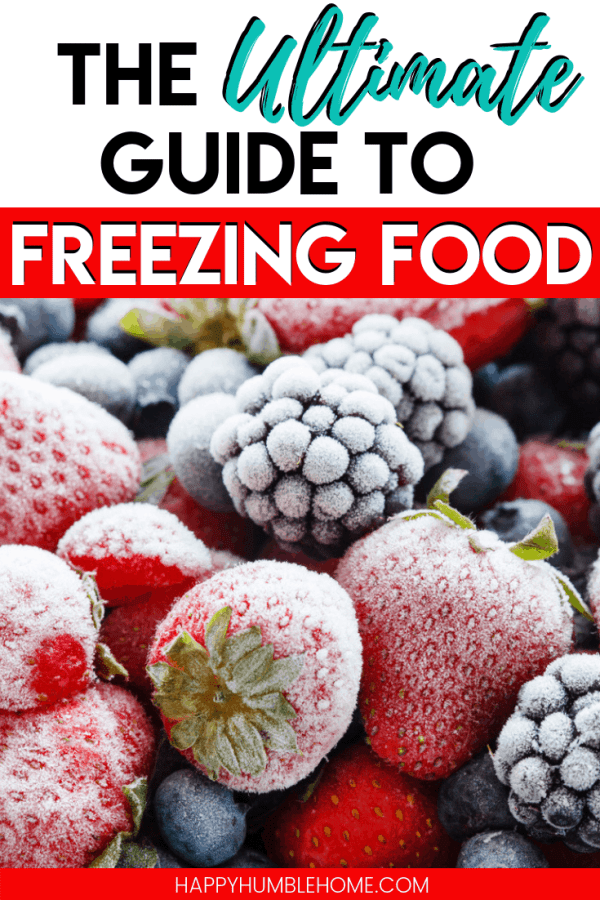 The Ultimate Guide to Freezing Food - So many tips for how to freeze food, from storage ideas, prep and a long list of ideas for foods you can freeze. This is such an easy way to save money! Must read!!