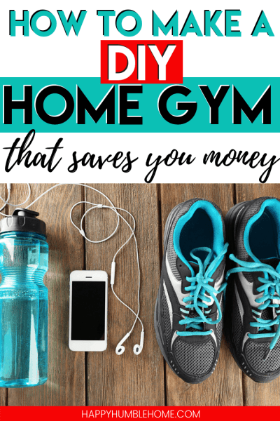 How to make a DIY home gym that saves you money - Get healthy on a budget in 2019. Cancel that gym membership you're not using and make your own DIY gym at home. We saved thousands with ours and it was so simple! Read this post to learn how to get started! #fitness #gym #homeimprovement #savemoney #budget