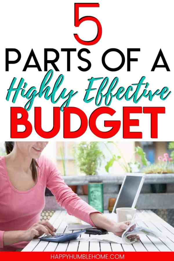 How to Make your First Budget - 5 parts of a Highly Effective Budget