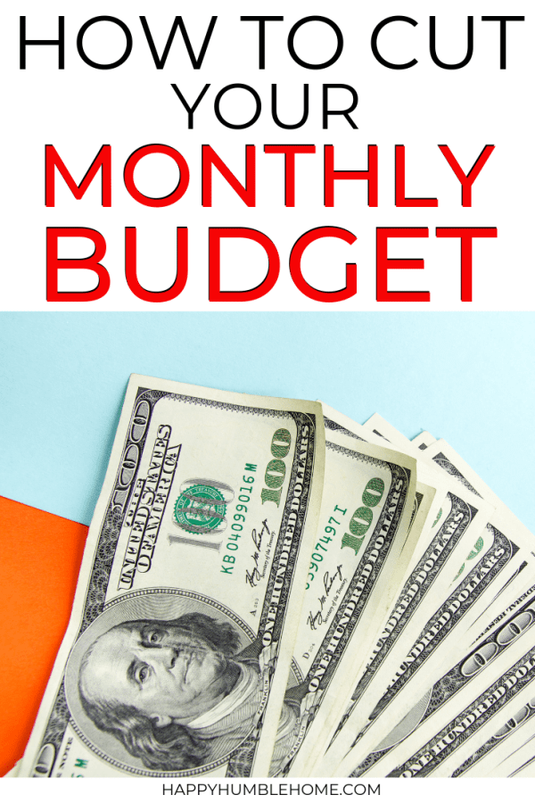 How to Cut your Monthly Budget
