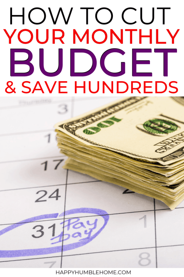 How to Cut Your Monthly Budget & Save Hundreds