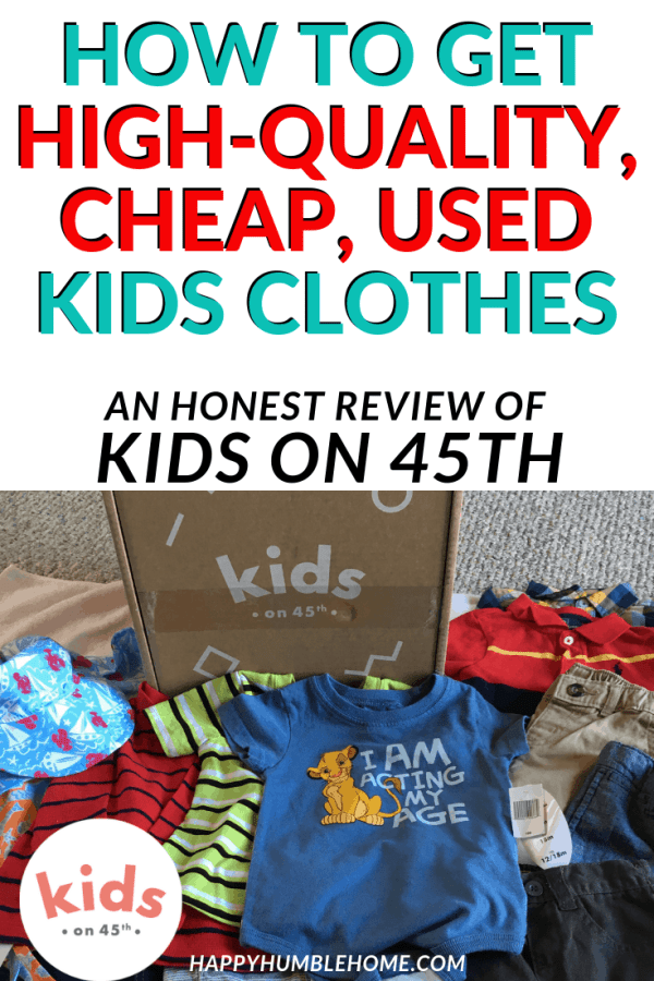 Get high-quality, cheap, used kids clothes with Kids on 45th