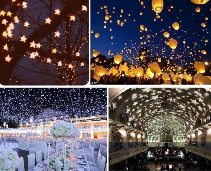 Night Wedding Ideas Starry Night Wedding Theme