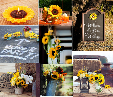 Fall Wedding Party Theme Sunflowers Themed Wedding
