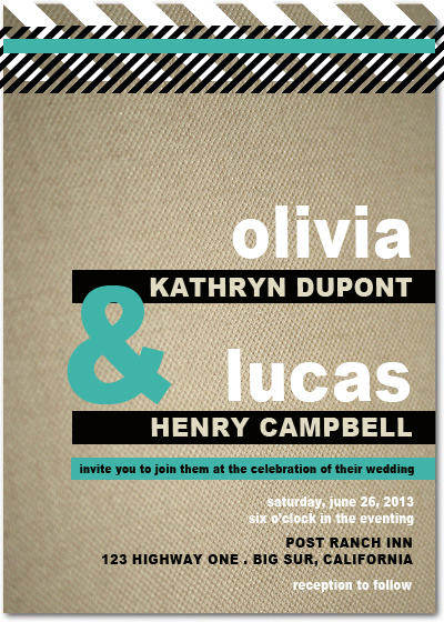 Trendy Wedding Invitations Card