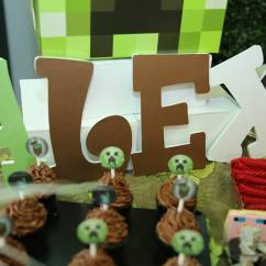 Table And Chair Rentals Mn Oversized Dining Minecraft Theme Birthday Party - Happy Kid