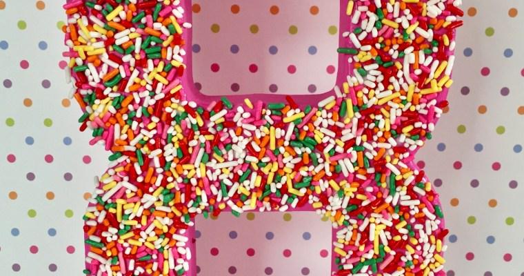 Sprinkle Birthday Number