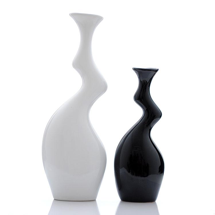 Vasi ceramica moderni bianchi e decorati  Arredamento moderno