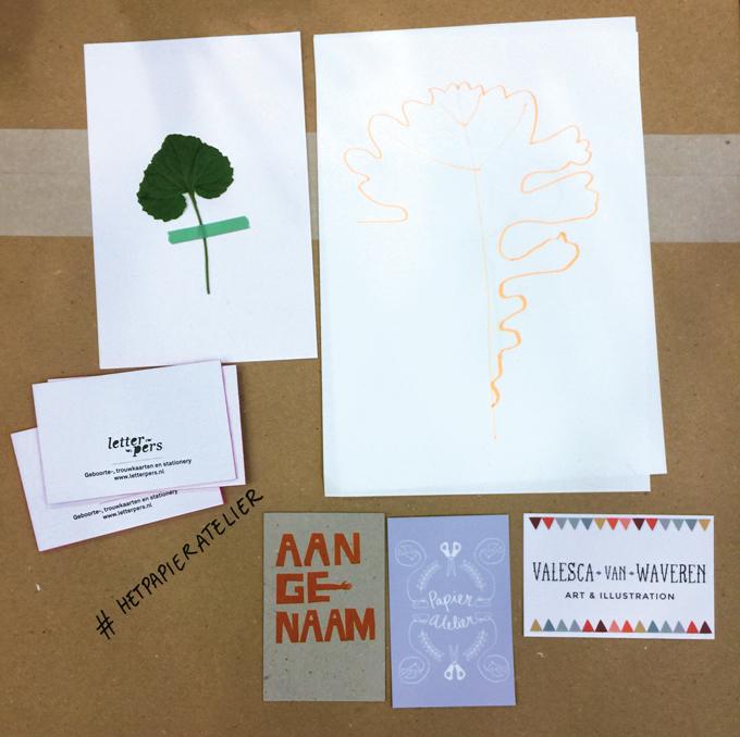 HappyMakersBlog PapierAtelier visitekaartjes