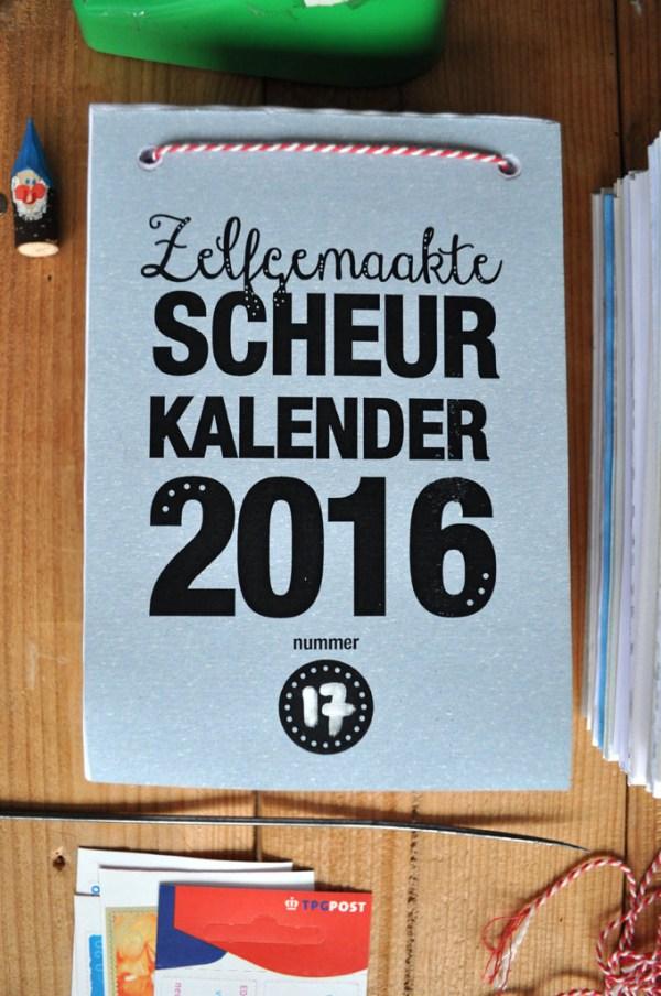 zelfgemaakte scheurkalender 2016.3