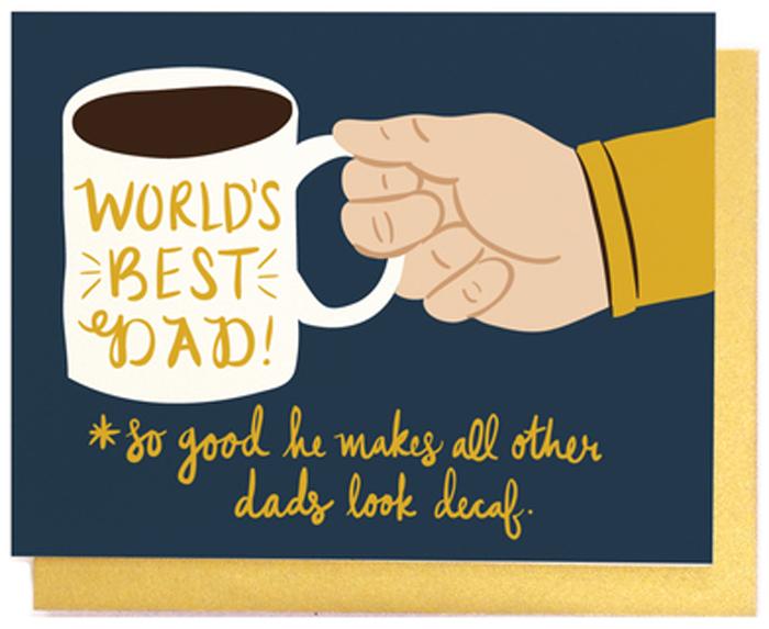 Ansichtkaarten LittleLow Fathersday postcard DadMug