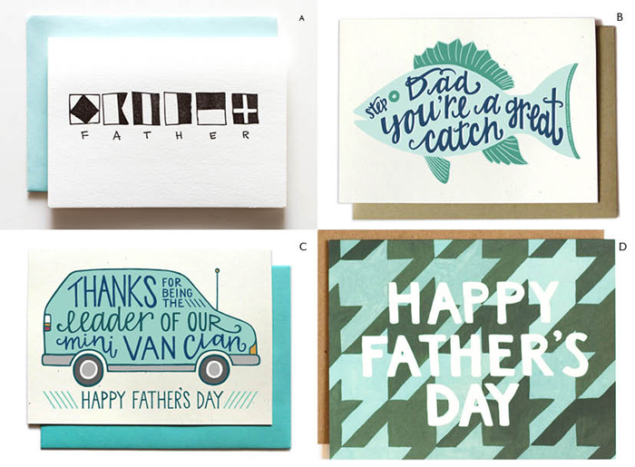 fathersday postcards Greens 1