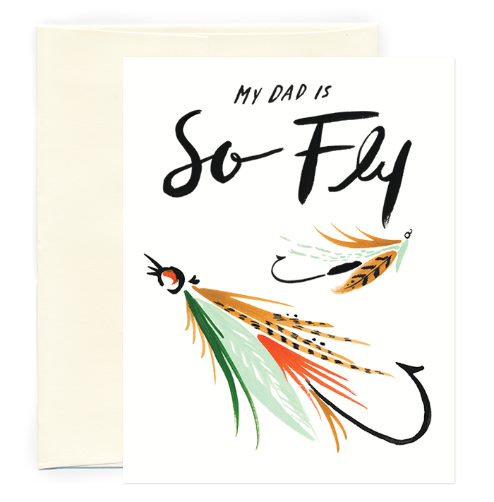 idlewildco fathersday postcard fly-dad
