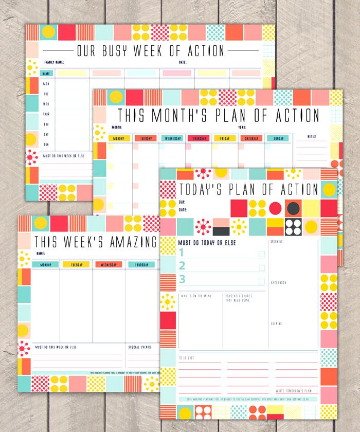 action planners SamOsborneStore HappyMakersBlog