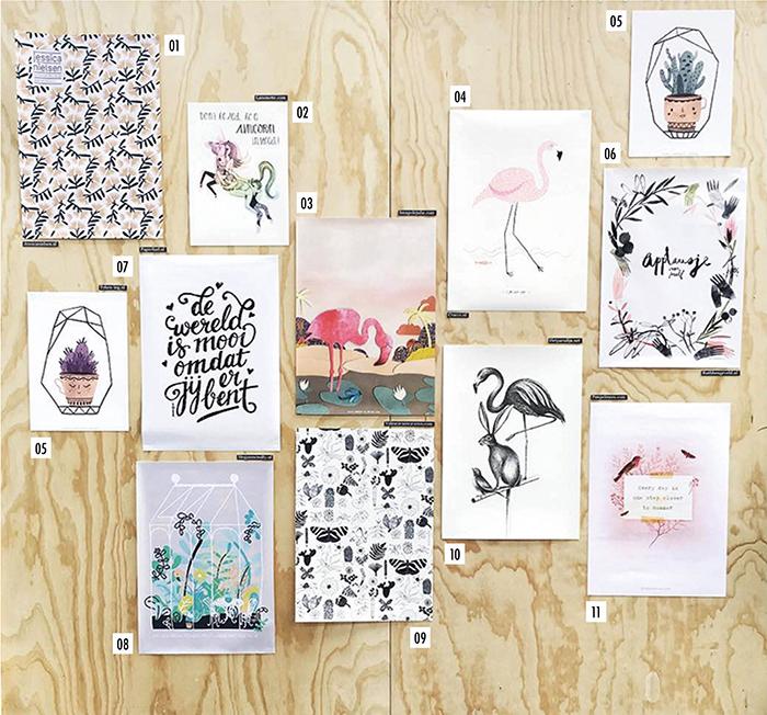 Flavourites Feest Illustratie muur @esmeeschonfeldt