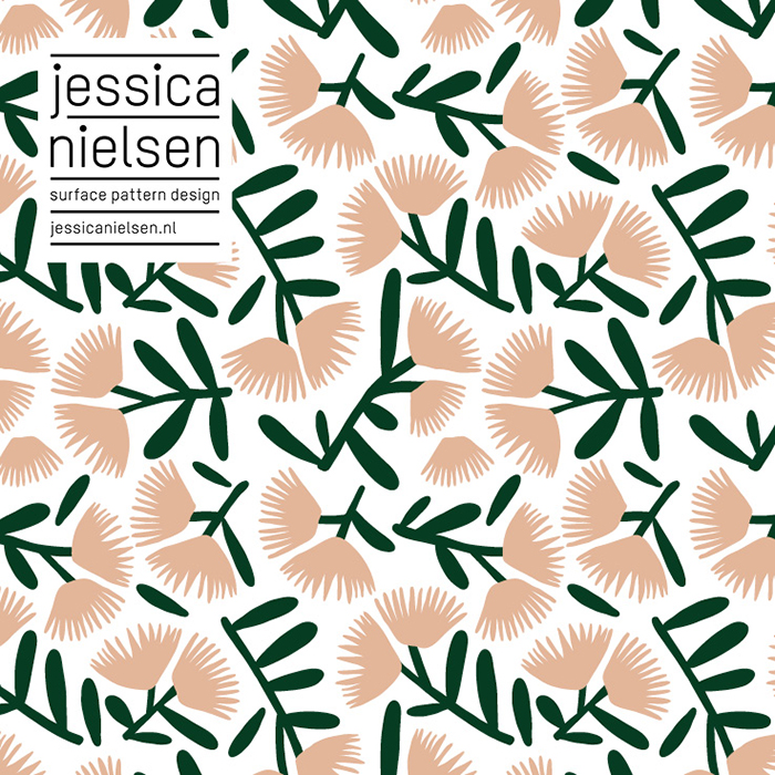 Flavourites Feest Illustratie muur HappyMakersBlog - Jessica Nielsen Patterns