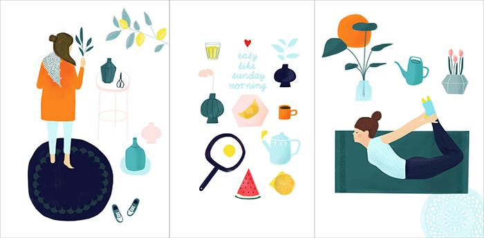 Karen Weening Summer 3x Postcard HappyMakersBlog