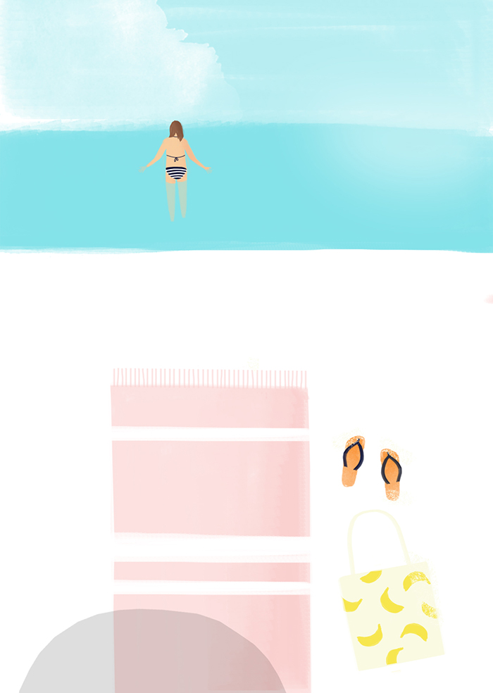 Karen Weening Summer Swimming Beach Postcard HappyMakersBlog