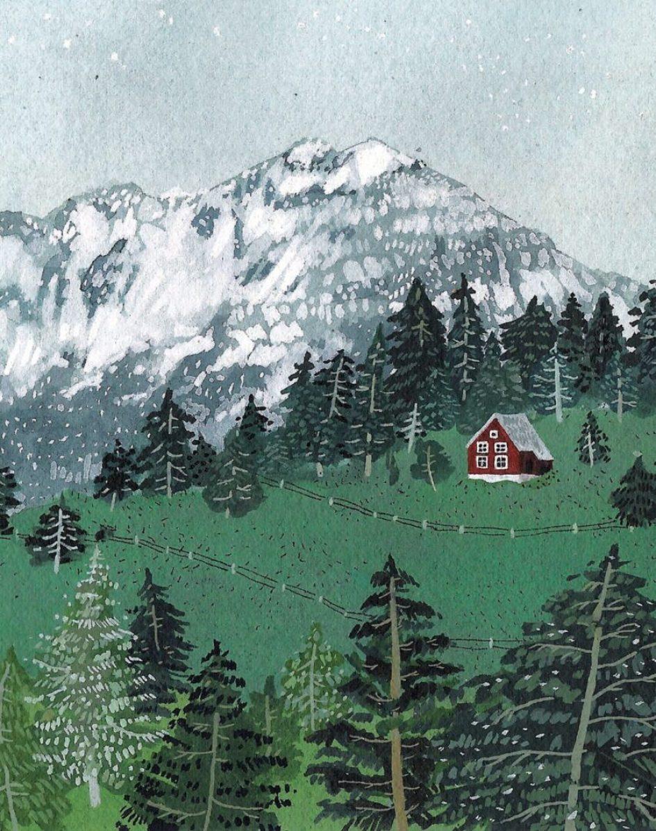 Berg illustraties om van te dromen