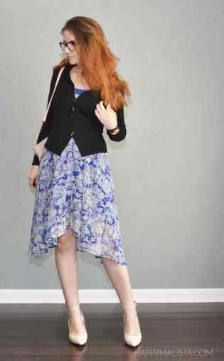 how to wear floral sundress to the office